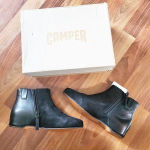 CAMPER Serena Leather Wedge Ankle Boots NWT